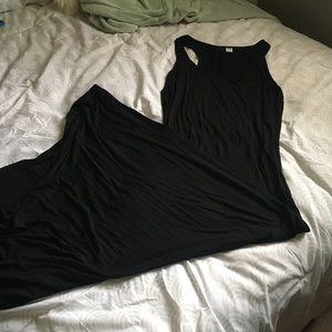 Black sleeveless Maxi Dress